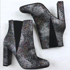 Steven Madden Glitter Block Heel Ankle Boot
